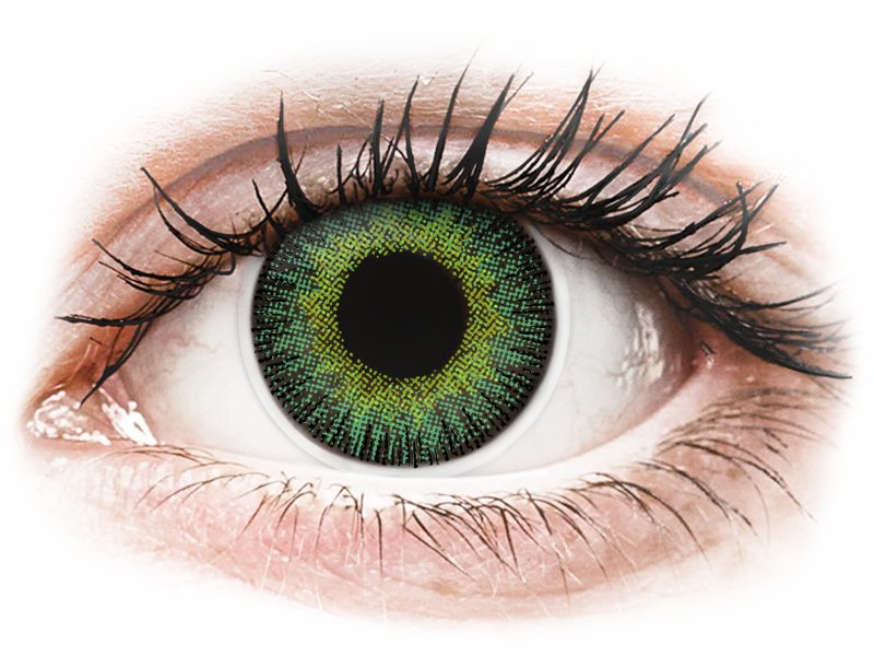 ColourVUE Fusion Green Yellow - cu dioptrie (2 lentile)