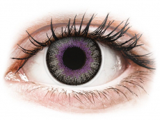 Lentile de contact mov - fără dioptrie - ColourVUE Fusion Violet Gray - fără dioptrie (2lentile)