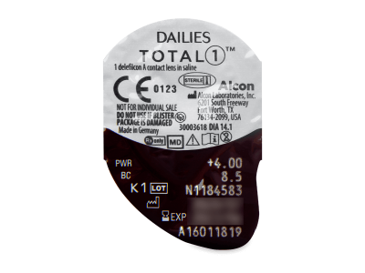 Dailies TOTAL1 (30lentile) - Vizualizare ambalaj