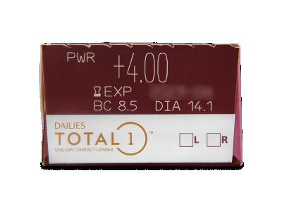 Dailies TOTAL1 (30lentile) - Parametrii lentilei