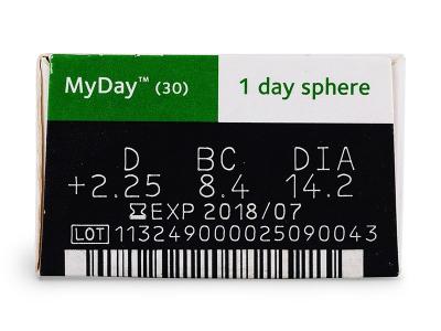 MyDay daily disposable (30lentile) - Parametrii lentilei