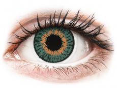 Lentile de contact portocalii - fără dioptrie - Expressions Colors Aqua - fără dioptrie (1 lentilă)
