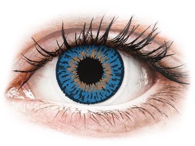 Expressions Colors Dark Blue - cu dioptrie (1lentilă) - Lentile de contact colorate
