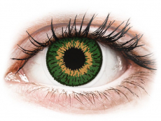 Lentile de contact cu dioptrie - Expressions Colors Green - cu dioptrie (1 lentilă)
