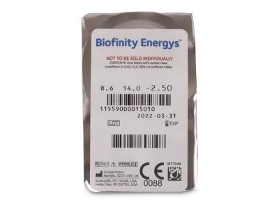 Biofinity Energys (3 lentile) - Vizualizare ambalaj