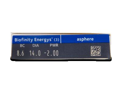 Biofinity Energys (3 lentile) - Parametrii lentilei