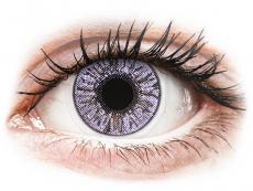 Lentile de contact roz - fără dioptrie - FreshLook Colors Violet - fără dioptrie (2 lentile)
