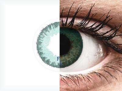 FreshLook Dimensions Carribean Aqua - fără dioptrie (2 lentile)