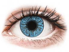 Lentile de contact albastre - fără dioptrie - FreshLook Colors Sapphire Blue - fără dioptrie (2 lentile)