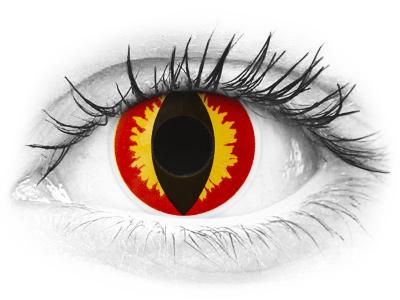 ColourVUE Crazy Lens - Dragon Eyes - lentile zilnice fără dioptrie (2 lentile)
