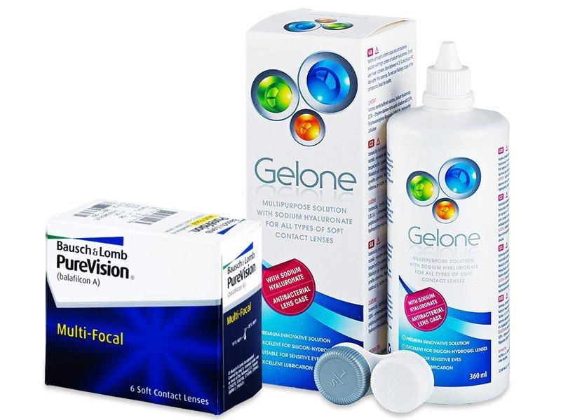 PureVision Multi-Focal (6lentile) +soluțieGelone360ml - Výhodný balíček