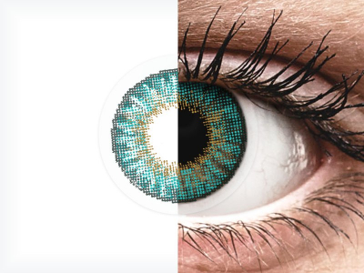 Air Optix Colors - Turquoise - fără dioptrie (2 lentile)