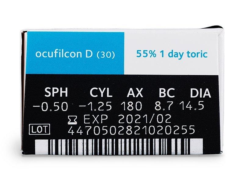 Biomedics 1 Day Extra Toric (30lentile) - Parametrii lentilei