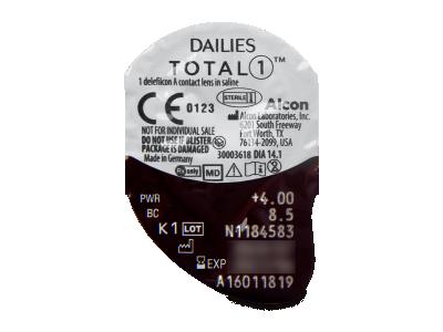 Dailies TOTAL1 (90lentile) - Vizualizare ambalaj