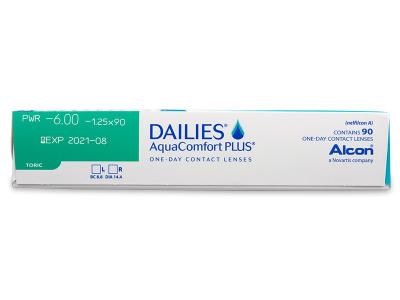 Dailies AquaComfort Plus Toric (90lentile) - Parametrii lentilei