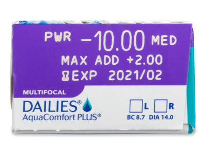 Dailies AquaComfort Plus Multifocal (30lentile) - Parametrii lentilei