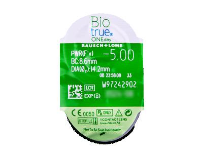 Biotrue ONEday (30 lentile) - Vizualizare ambalaj