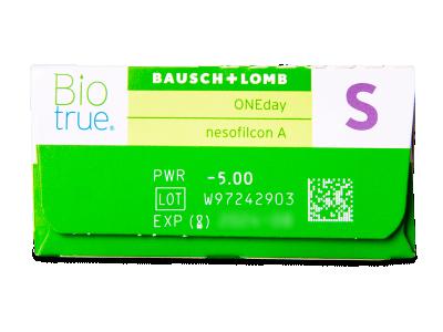 Biotrue ONEday (30 lentile) - Parametrii lentilei