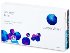 Lentile de contact torice / pentru astigmatism - Biofinity Toric (6lentile)