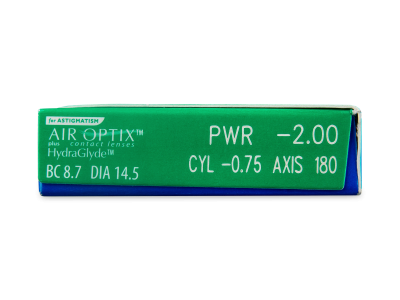 Air Optix plus HydraGlyde for Astigmatism (6 lentile) - Parametrii lentilei