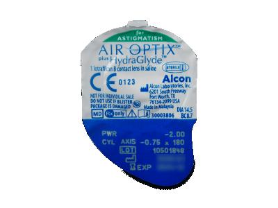 Air Optix plus HydraGlyde for Astigmatism (6 lentile) - Vizualizare ambalaj