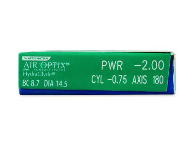 Air Optix plus HydraGlyde for Astigmatism (3 lentile) - Parametrii lentilei