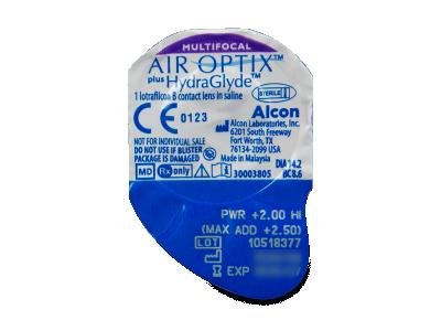 Air Optix plus HydraGlyde Multifocal (6 lentile) - Vizualizare ambalaj