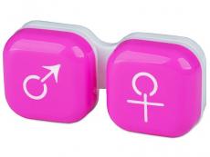 Suport lentile de contact - Suport pentru lentile man&woman - roz