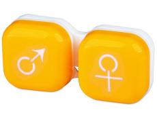 Suport lentile de contact - Suport pentru lentile man&woman - galben