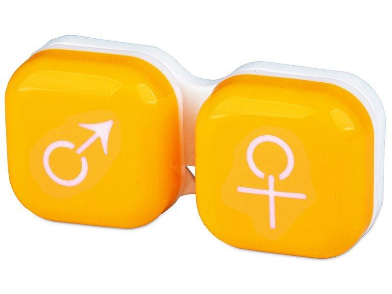 Suport pentru lentile man&woman - galben