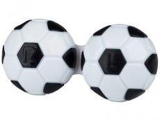 Suport lentile de contact - Suport pentru lentile Football-negru