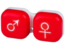 Suporți pentru lentile de contact - Suport pentru lentile man&woman - roșu