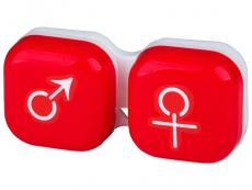 Suport lentile de contact - Suport pentru lentile man&woman - roșu