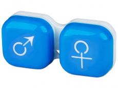 Suport lentile de contact - Suport pentru lentile man&woman - albastru
