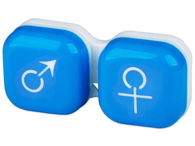 Suport pentru lentile man&woman - albastru