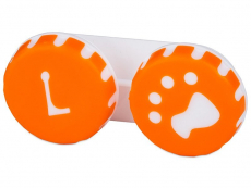 Suport lentile de contact - Suport pentru lentile Paw portocaliu