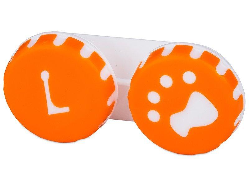 Suport pentru lentile Paw portocaliu