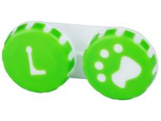 Suport lentile de contact - Suport pentru lentile Paw verde
