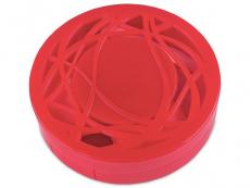 Suport lentile de contact - Casetă cu oglindă - cu ornament, roșie
