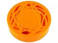 Casetă cu oglindă - cu ornament, portocalie