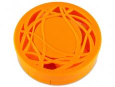 Suport lentile de contact - Casetă cu oglindă - cu ornament, portocalie