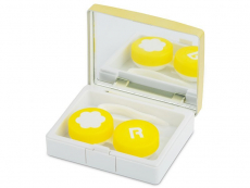 Suport lentile de contact - Casetă Elegant  - aurie