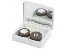 Suport lentile de contact - Casetă Elegant - argintie