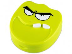 Suport lentile de contact - Casetă cu oglindă Smile - verde