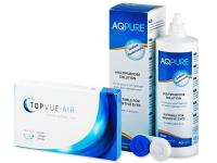 TopVue Air (6 lentile) + soluție AQ Pure 360 ml