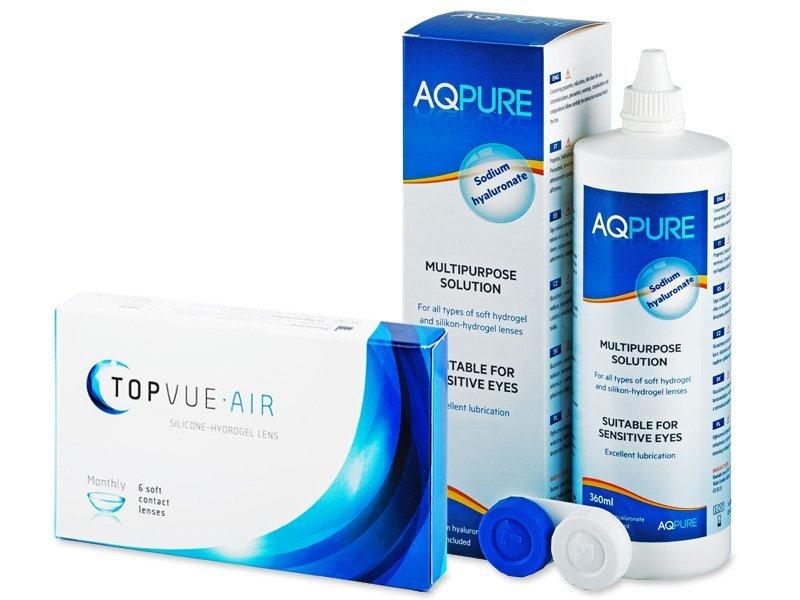 TopVue Air (6 lentile) + soluție AQ Pure 360 ml - Výhodný balíček