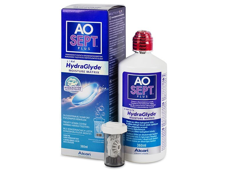 Soluție AO SEPT PLUS HydraGlyde 360 ml