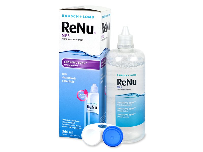 Soluție ReNu MPS Sensitive Eyes 360 ml  - Soluție de curățare - Bausch and Lomb