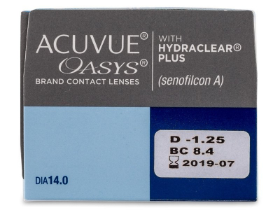 Acuvue Oasys (24 lentile) - Parametrii lentilei