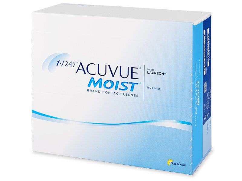 1 Day Acuvue Moist (180 lentile) - Lentile de contact de unică folosință - Johnson and Johnson